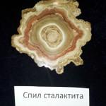 Спил сталактита, Урал